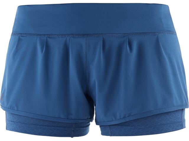 Salomon W's Elevate Aero Shorts Poseidon